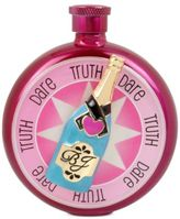 Betsey Johnson Pink-Tone Truth or Dare Champagne Flask