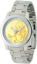 Disney Beauty and the Beast Womens Silver Tone Bracelet Watch-W001821