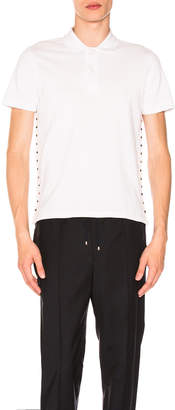 Valentino Studded Polo in White | FWRD