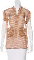 Belstaff Sheer Abstract-Print Dress