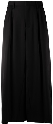 Comme des Garcons Pleated-Panel Maxi Skirt