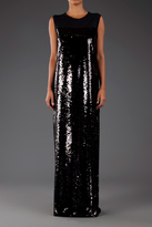 Giambattista Valli Sleeveless Sequin Gown