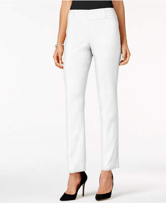 JM Collection Long Studded Tummy Control Pull-On Pants