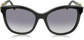 Roberto Cavalli Kraz 877S 01B Black Acetate Cat Eye Sunglasses w/Goldtone Details