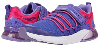 Saucony Kids S-Flash Glow 2.0 (Little Kid) (Purple/Pink) Girls Shoes