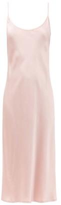 La Perla Scoop-neck Silk-charmeuse Nightdress - Light Pink