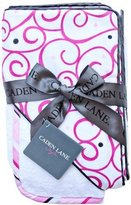 Caden Lane Luxe Collection Swirl Hooded Towel Set, Dark Pink, Infant by