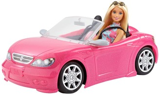 Mattel Barbie Doll & Glam Convertible