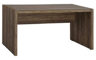 """Millwood Pines Desk Color: Aged Walnut/ Clear Glass, Size: 29.5:H x 59""""W x 23.5""""D"""