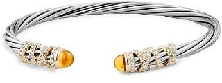 David Yurman Helena End Station Bracelet with Citrine, Diamonds and 18K Gold