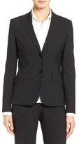 BOSS Women's Julea Stretch Wool Suit Jacket