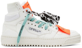 Off-White White and Purple Off Court 3.0 High-Top Sneakers