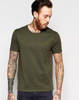 Asos T-Shirt With Crew Neck In Dark Green