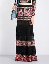 Roberto Cavalli Floral jacquard-knit maxi skirt