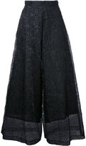 Taro Horiuchi lace detail cropped pants - women - Polyester - One Size