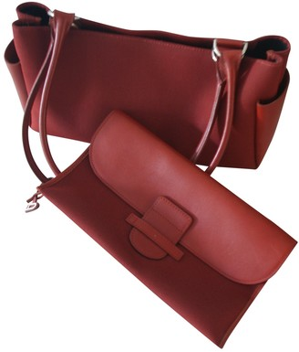Delvaux Red Cloth Handbags
