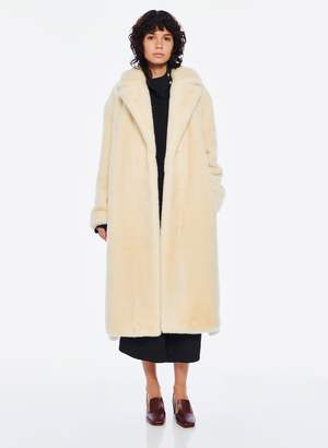 Tibi Luxe Faux Fur Oversized Coat