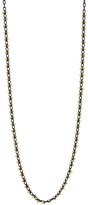 Ten Thousand Things Line Beaded Necklace Black - Yellow Gold