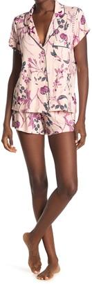 Shimera Tranquility Short Sleeve Shirt & Shorts 2-Piece Pajama Set