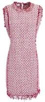 Giambattista Valli Embellished Cotton-blend Boucle-tweed Mini Dress