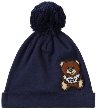 Moschino Cotton Beanie Hat W/ Toy Patch