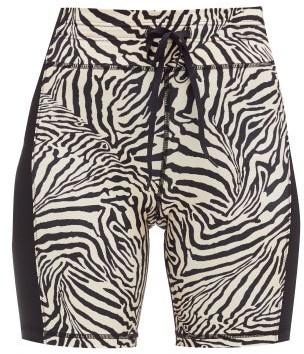 The Upside Spin Zebra-print Cycling Shorts - Animal