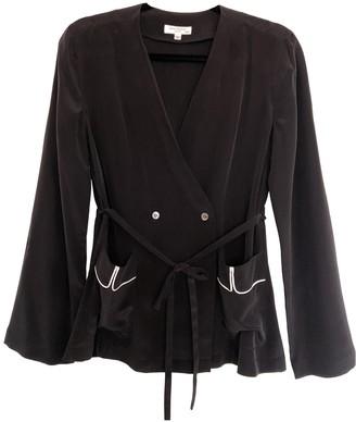 Equipment Black Silk Jacket for Women