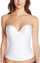Felina Women's Essentials Seamless Pad Hidden Wire Bustier, White, 36C