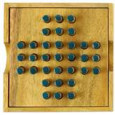 Elimination Hand Made Wood Peg Game Teal from Thailand
