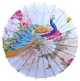 Panda Superstore Non Rainproof Handmade Chinese Style Oiled Paper Umbrella 33-Inch Office Gifts