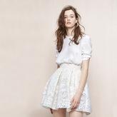 Maje Short lace guipure skirt