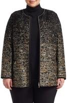 Lafayette 148 New York Lafayette 148 New York, Plus Size Karina Tweed Collarless Jacket