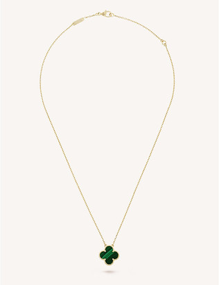 Van Cleef & Arpels Women's Yellow Gold Vintage Alhambra And Malachite Pendant