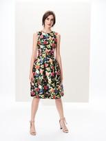 Oscar de la Renta Flower Jungle Mikado Dress