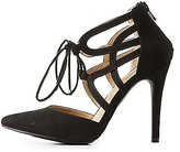 Charlotte Russe Caged D'Orsay Pointed Toe Pumps