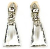 Kenneth Jay Lane Crystal Deco Clip On Earrings