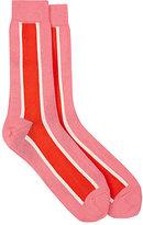 Paul Smith Men's Colorblocked Cotton-Blend Mid-Calf Socks-PINK