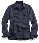 Todd Snyder Weathered Speckle Shirt Jacket in Navy