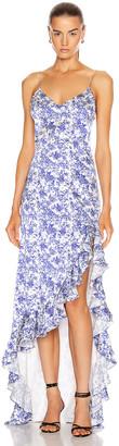 Caroline Constas Ruffle Slip Gown in Blue | FWRD