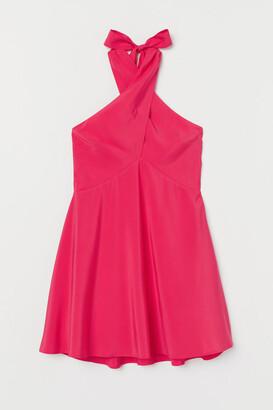 H&M Short Halterneck Dress - Pink