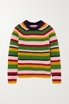 ALEXACHUNG Striped Knitted Sweater - Green