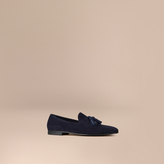 Burberry Whole-cut Suede Tassel Loafers