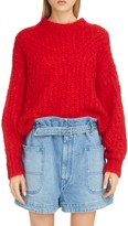 Isabel Marant Puff Sleeve Mohair & Wool Blend Sweater