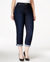 Style&Co. Style & Co. Plus Size Curvy-Fit Cuffed Ex-Boyfriend Jeans, Caneel Wash