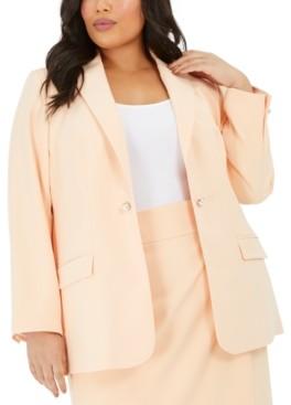 Calvin Klein Clavin Klein Plus Size One-Button Blazer