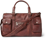 Brunello Cucinelli Burnished-leather Holdall - Brown