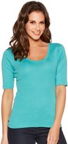 M&Co Plain scoop neck half sleeve top