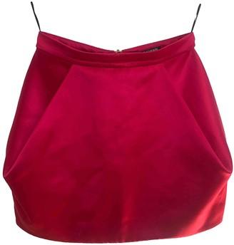 Balmain Pink Wool Skirt for Women