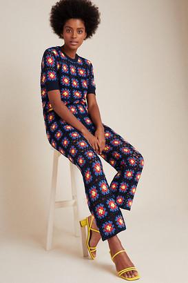 Scotch & Soda Crochet Wide-Leg Pants By in Blue Size XS