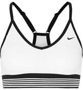 Nike Pro Indy Cool Dri-fit Stretch-jersey Sports Bra - White